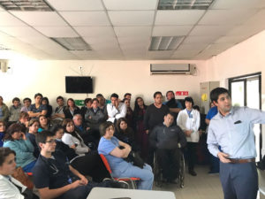 Concurso de innovación en la Red Comunal de Salud de Las Condes, durante la capacitación.